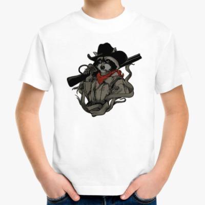 Детская футболка Енот с ружьём