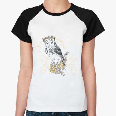 Женская футболка реглан KingOwl