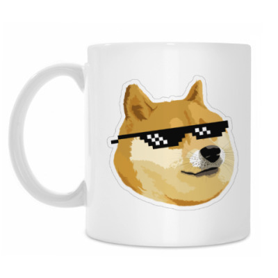 Doge meme, deal with it очки