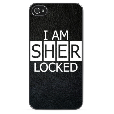 Чехол для iPhone I am sherlocked (Sherlock)