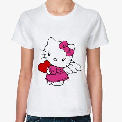 Классическая футболка Kitty с сердцем