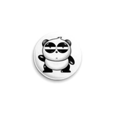 """Значок 25мм  """"Флегматичная панда"""""""