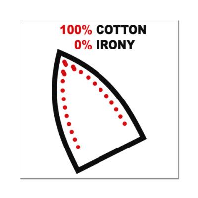 Наклейка (стикер) 100% хлопок, 0% железа