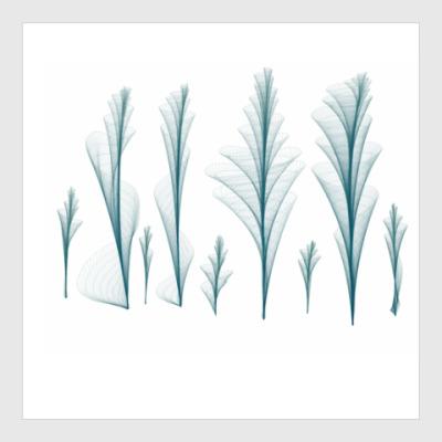 Постер Фрактальный лес