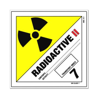 Наклейка (стикер) Радиоактивность