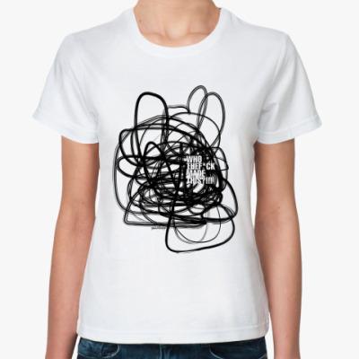 Классическая футболка WhoTheF*ckMadeThis
