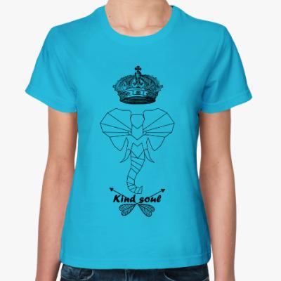 Женская футболка Животные души