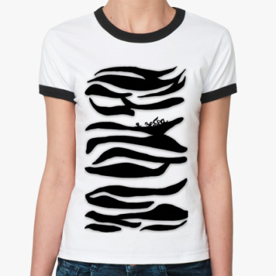 Женская футболка Ringer-T Я зебра