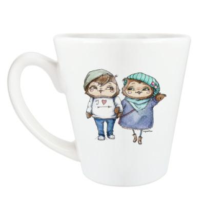 Чашка Латте Парижская парочка