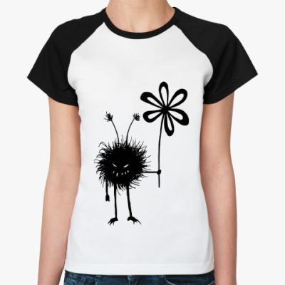 Женская футболка реглан Маленькое зло