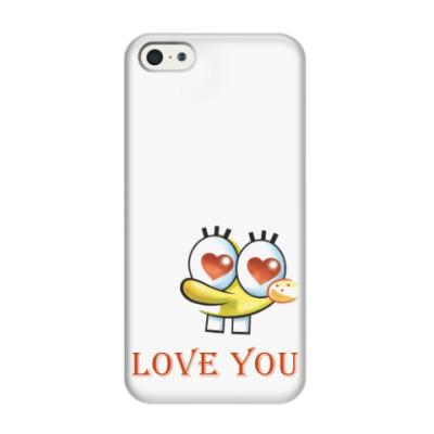 Чехол для iPhone 5/5s Люблю тебя