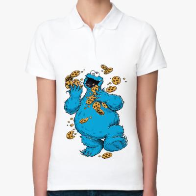 Женская рубашка поло Cookie Monster