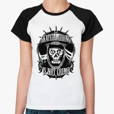 Женская футболка реглан Skate  Ж()