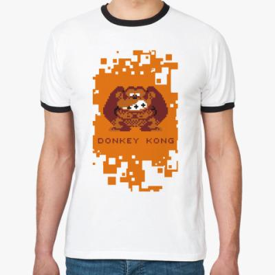 Футболка Ringer-T Pixel Donkey Kong