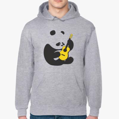 Толстовка худи Панда с гитарой