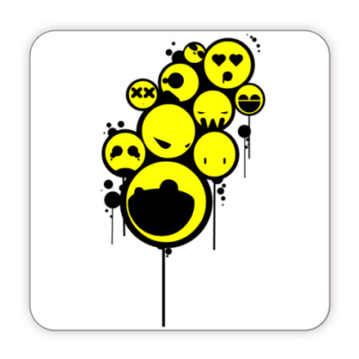 Костер (подставка под кружку) Подставка под кружку Smiley
