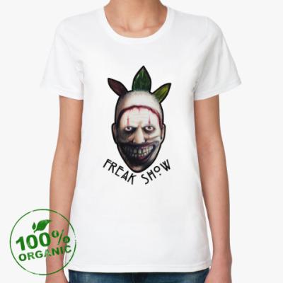 Женская футболка из органик-хлопка Freakshow horror clown