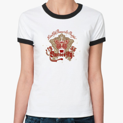 Женская футболка Ringer-T Butterfly