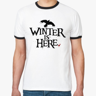 Футболка Ringer-T Игра престолов. Winter is here