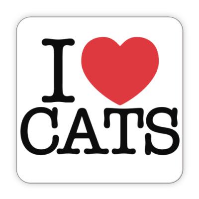 Костер (подставка под кружку) я Люблю кошек