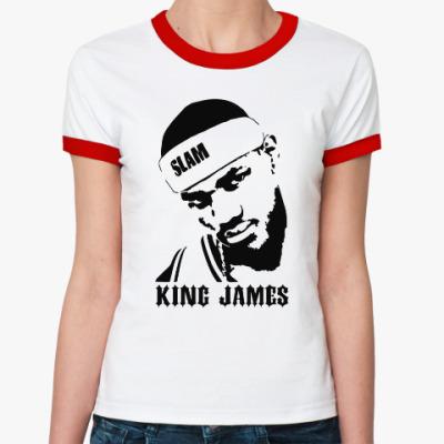 Женская футболка Ringer-T King James