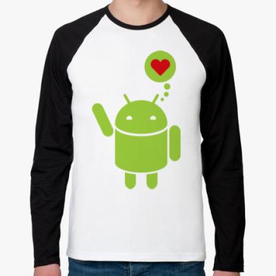 Футболка реглан с длинным рукавом Love Android