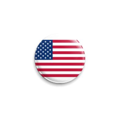 Значок 25мм  Флаг США  ()
