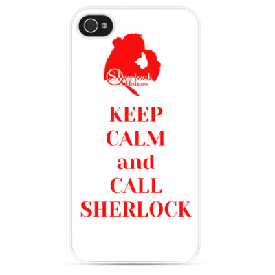 Чехол для iPhone Keep calm and call Sherlock