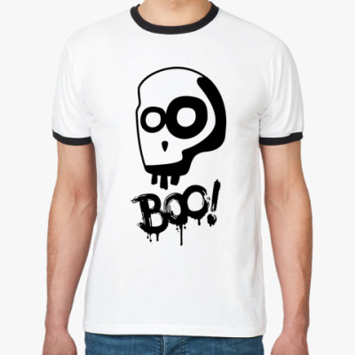 Футболка Ringer-T Boo!