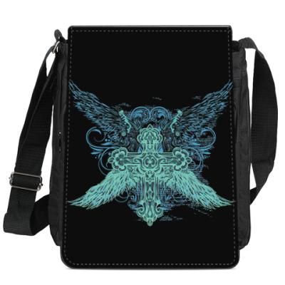 Сумка-планшет Крест с крыльями