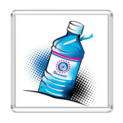Магнит  бутылка воды с 815