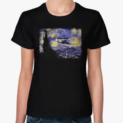 Женская футболка Звёздный Делориан