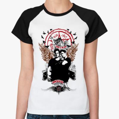 Женская футболка реглан Сэм и Дин - Supernatural