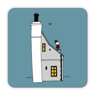 Костер (подставка под кружку) Корнуольский домик