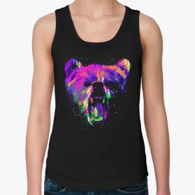 Женская майка Абстрактный медведь