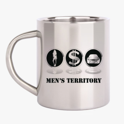 Кружка металлическая Men's territory