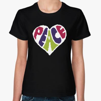 Женская футболка Сердце мира