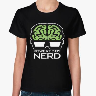 Женская футболка Нерд