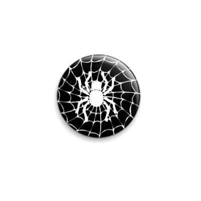 Значок 25мм  Spider black