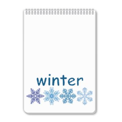Блокнот Зима