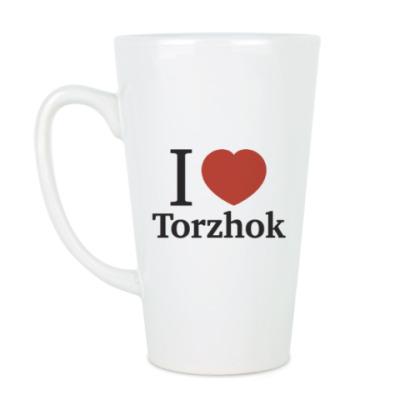 Чашка Латте Я люблю Торжок