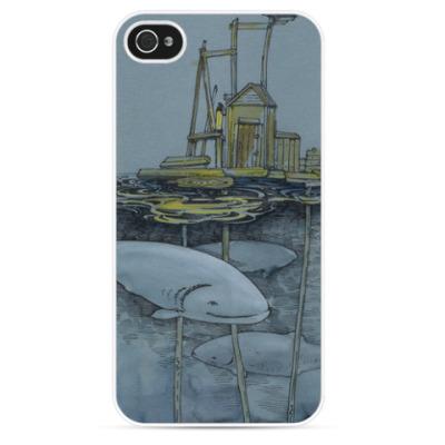 Чехол для iPhone Белые рыбы