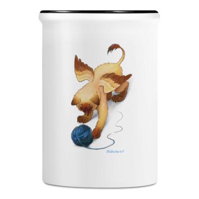 Подставка для ручек и карандашей Котенок-грифон