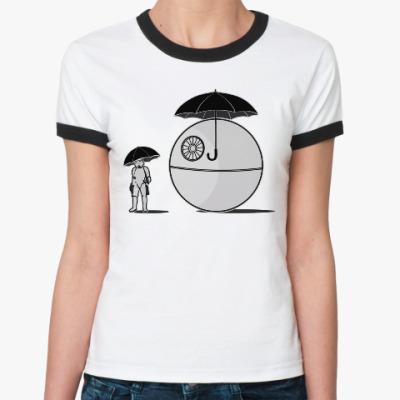 Женская футболка Ringer-T My neighbor Death Star