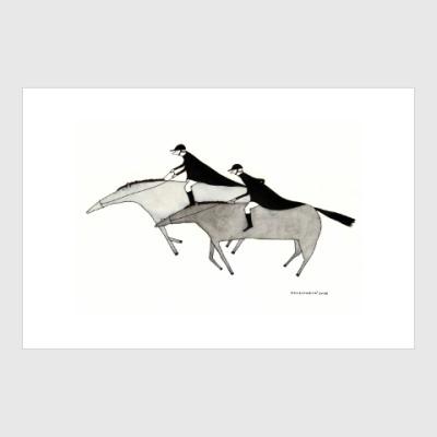 Постер Horse riders