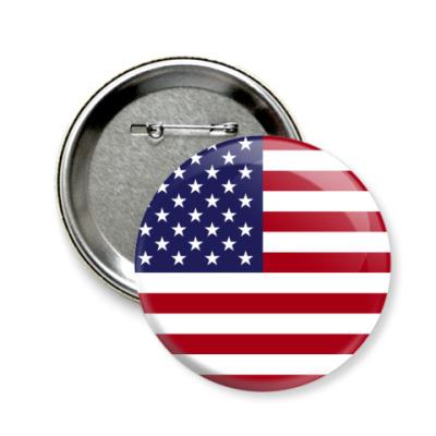 Значок 58мм США, USA, Америка