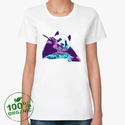 Женская футболка из органик-хлопка Panda