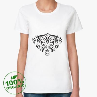 Женская футболка из органик-хлопка Этнический стиль