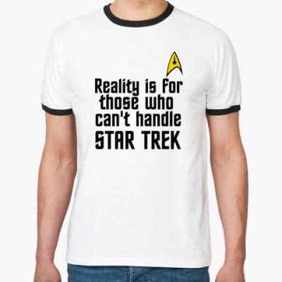 Футболка Ringer-T Reality vs Star Trek