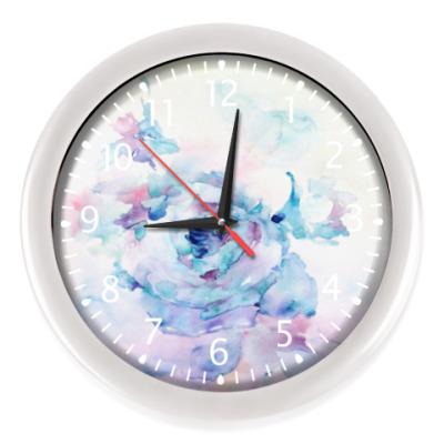 Настенные часы Снежная роза